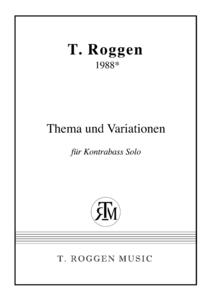 Thema & Variationen für Kontrabass Solo